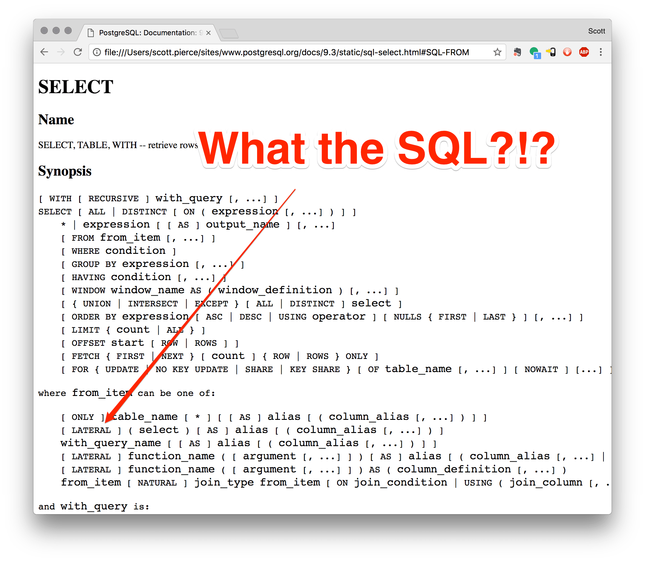 What the SQL?!? Lateral Joins